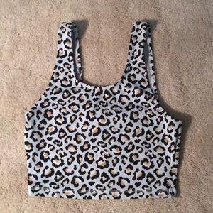 THE UPSIDE boutique Leopard Bra Top!